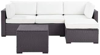 Crosley Biscayne 4-Piece Outdoor Wicker Seating Set