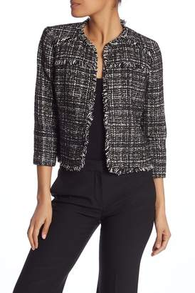 Nine West Tweed Printed Blazer