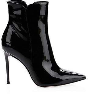 Gianvito Rossi Women's Patent Leather High Heel Booties