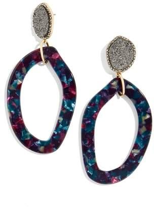 BaubleBar Tristana Drusy & Oval Drop Earrings