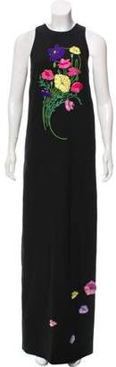 Christopher Kane Embroidered Maxi Dress