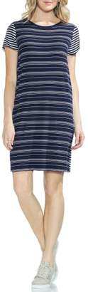 Vince Camuto Mixed Stripe T-Shirt Dress