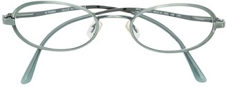 Fendi Pre-Owned narrow oval frame glasses