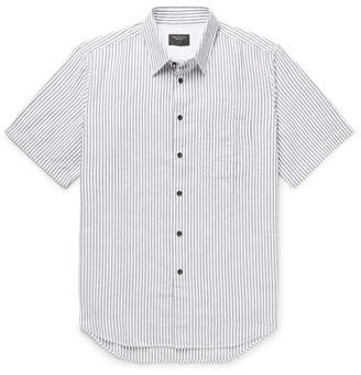 Rag & Bone Fit 3 Beach Striped Cotton and Linen-Blend Shirt