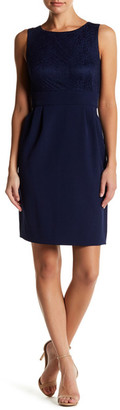 Tahari Lace Panel Sleeveless Dress $128 thestylecure.com