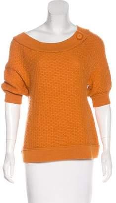 Magaschoni Knit Three-Quarter Sleeve Top