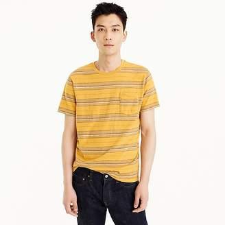 J.Crew Tall short-sleeve slub cotton T-shirt in yellow stripe