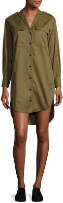 Rag & Bone Mason Long-Sleeve Shirt Dress, Olive