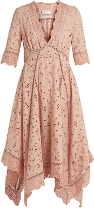 ZIMMERMANN Mariso broderie-anglaise dress $648 thestylecure.com