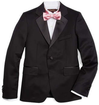 Brooks Brothers Boys One-Button Tuxedo Prep Jacket