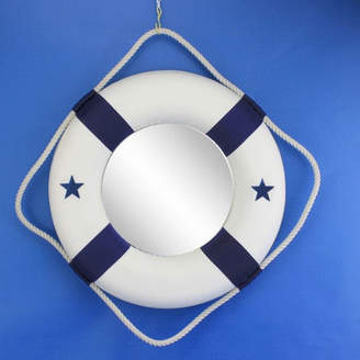 Handcrafted Nautical Decor Life Ring Mirror