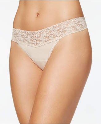 Hanky Panky Organic Cotton Low-Rise Lace Thong 891581