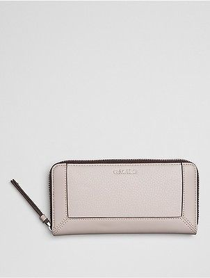 Calvin Klein Calvin Klein Womens Pebble Large Zip Wallet Mushroom