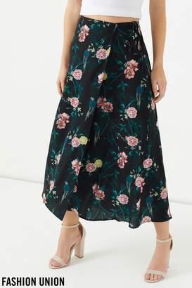 Next Womens Fashion Union tropical print Wrap Skirt