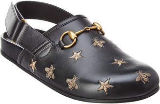 Gucci Horsebit Embroidered Sandal