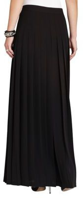 BCBGMAXAZRIA Lanae Snap-Front Long Pleated Skirt