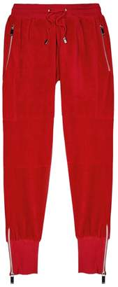 Blood Brother Vulcan Red Velour Jogging Trousers