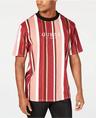 GUESS Originals Men Striped Logo T-Shirt