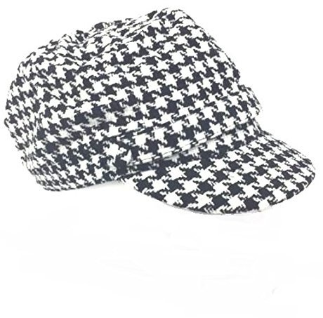Charter Club Women's Chenille Houndstooth Newsboy Hat