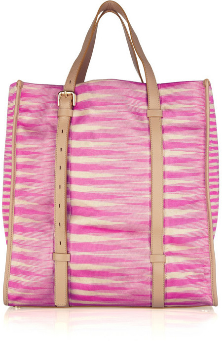 Missoni Leather-trimmed knitted tote