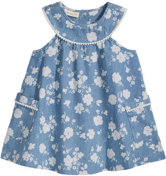 First Impressions Floral-Print Denim Dress, Baby Girls, Created for Macy's