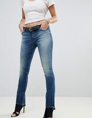 Replay Dominquli Cropped Bootcut Jeans