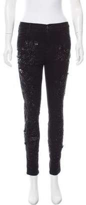 Amen Embellished Mid-Rise Jeans