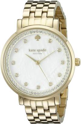 Kate Spade Women's 1YRU0821 Monterey Analog Display Japanese Quartz Gold Watch