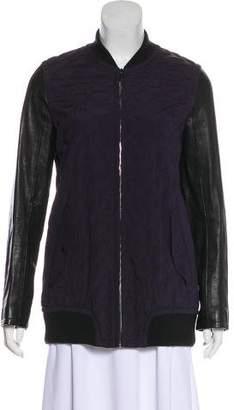 Rag & Bone Leather-Accented Silk Jacket