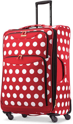 "Disney Minnie Mouse Polka Dot 28"" Spinner Suitcase by American Tourister $280 thestylecure.com"