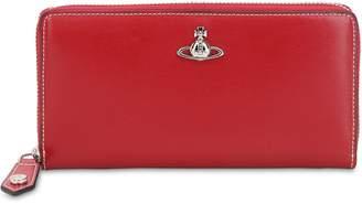 Vivienne Westwood Matilda Leather Zip Around Wallet