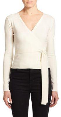 Diane von Furstenberg Ballerina Wrap Sweater $268 thestylecure.com