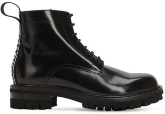DSQUARED2 40mm Leather Boots W/ Logo Tape