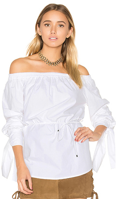 FAITHFULL THE BRAND Polonia Top in White $130 thestylecure.com
