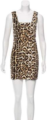 Alice + Olivia Cheetah Mini Dress