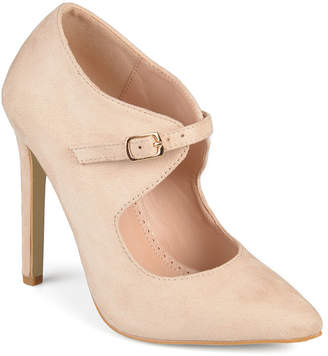Journee Collection Womens Connly Pumps Buckle Pointed Toe Stiletto Heel