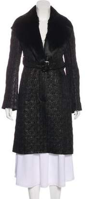 Pinko Metallic Jacquard Coat