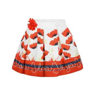 Byblos ByblosGirls Red Flower Print Skirt