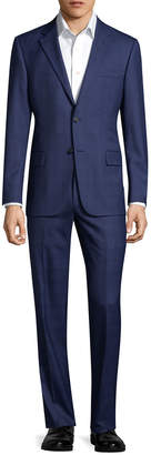 Hickey Freeman Solid Wool Suit