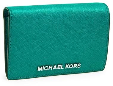 MICHAEL Michael Kors 'Medium Jet Set' Travel Wallet