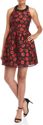 Kate Spade Poppy Jacquard Fit & Flare Dress