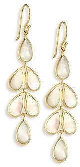 Ippolita Women's Polished Rock Candy Mother-Of-Pearl & 18K Yellow Gold Linear Cascade Earrings