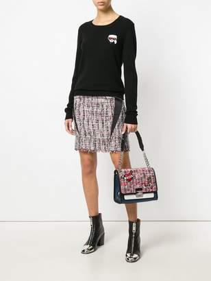 Karl Lagerfeld Captain tweed bag