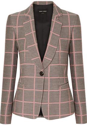 Giorgio Armani Checked Woven Blazer - Pink