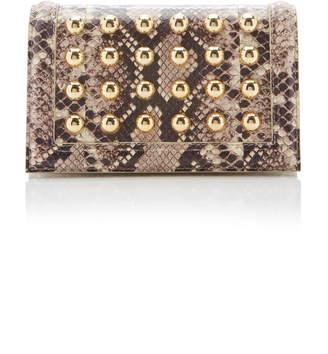 Elie Saab Snakeskin Shoulder Bag