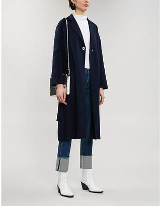 Maje Galib single-breasted wool-blend coat