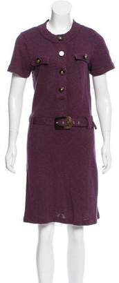 Tory Burch Belted Short Sleeve Dress