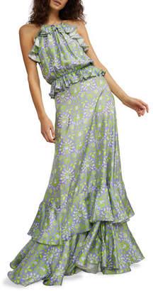 Cynthia Rowley Willow Creek Tiered Ruffle Halter Dress