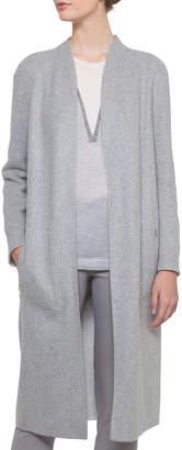 Akris Open-Front Reversible Silk Jersey Long Coat