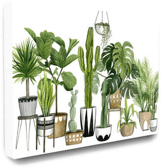 Stupell The Home Decor Collection Boho Plant Scene With Cacti And Succulents In Geometric Pots Watercolor